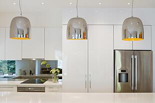 Bathroom & Kitchen Renovations - Kitchen with modern lighting installations