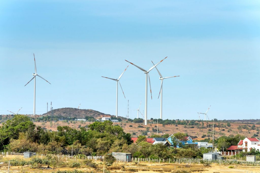 Energy Efficient Upgrades - Wind turbines on a hill